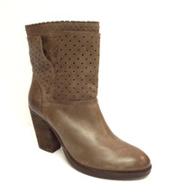 STEVEN Steve Madden Size 9 KOBRRA Taupe Leather Perforated Ankle Boots - $61.20