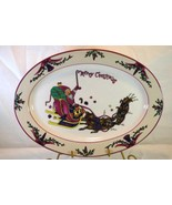 """GEI Christmas Time Oval Platter 14"""" - $17.00"""