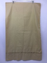 Pillow Case Yellow Gold Solid with Gold Rope Trim Standard Queen 60% Cotton - $14.70