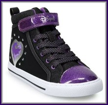 $60 D-Signed Disney-Girl-Youth-Black Purple High Top Sneakers Descendant... - $34.62