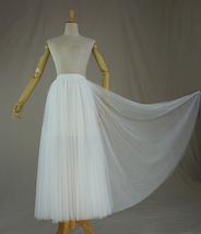 WHITE Full Long Tulle Skirt Bridal Tulle Outfit White Wedding Tulle Skirt Plus