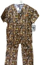 Med Couture XS Peaches Uniforms Unisex Natural Disguise Camo Scrub Set New image 3