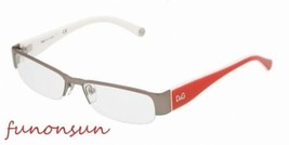 Dolce & Gabbana Women's Eyeglasses D&G 5080 464 Gunmetall Red Rectangle ... - $144.53
