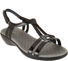 Clarks Collection T-Strap Sandals - Sonar Aster Black  7 M - ₹3,940.01 INR