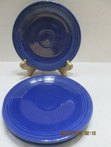"3 Fiestaware  6"" Dessert Plate  COBALT Unmarked (3) - $14.85"