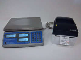 SWS-PCS-60 lb Price Computing Scale-lbs,kgs,oz Barcode Printer Thermal L... - $425.65