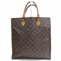 Louis Vuitton Brown Monogram Genuine Leather Sac Plat Tote Bag Handbag 3... - $370.26