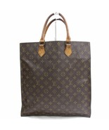 Louis Vuitton Brown Monogram Genuine Leather Sac Plat Tote Bag Handbag 3... - $370.26