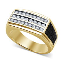 Men's CZ Wedding Band Ring 14k Gold Plated 925 Sterling Silver Ring Size... - $83.60