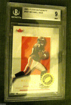 Michael Vick RC 2001 Fleer Authority ROOKIE Beckett Graded BGS 9-Falcons RC QB image 1