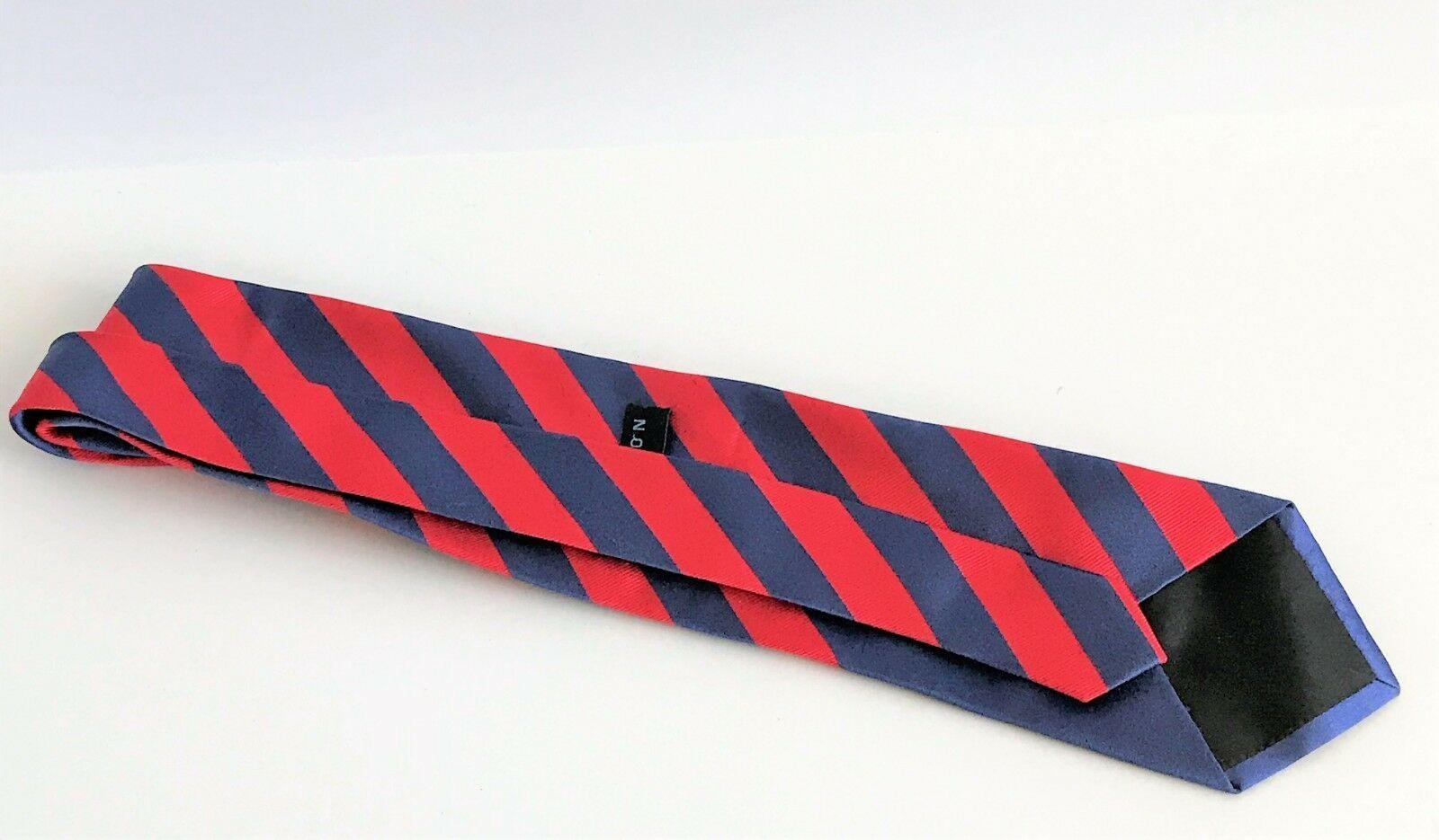 Kenneth Cole Reaction Men's Striped Blue & Red Silk Necktie image 4
