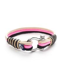 Shackle Nautical Rope Bracelet LORELEI navy pink beige for her jewelry f... - $20.00