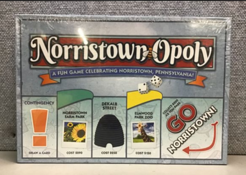 Brand New Sealed Norristown-Opoly Board Game Monopoly Pennsylvania Made in USA
