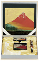 Maki-e Urushi Japanese Stationary set Fuji Mouse pad USB Frame Loupe Japan - $224.05