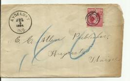 Aydelotte, Ind. 7/1/1884 Bullseye Cancellation - $3.19
