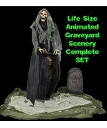 Animated Life Size GRAVEYARD REAPER COFFIN Talking Haunted House Horror-... - $197.97