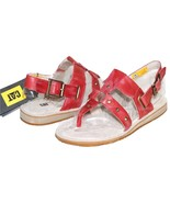 ✿ CATERPILLAR Birdsong Studded Antiqued-Red Leather Sandals 6.5 M NEW! L... - $46.54