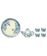 DOLLHOUSE MINIATURES 7PC CERAMIC BLUE TEA SET #G7717 - $10.50
