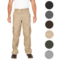 Men's Tactical Combat Military Army Work Slim Fit Twill Cargo Pants Trousers