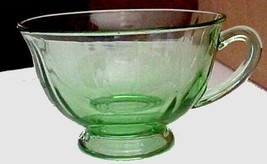 Fostoria-Fairfax beautiful green glass coffee cup - $3.59