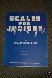 Primary image for Scales for Juniors by David Hirschberg 1946 Sheet Music