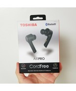 TOSHIBA Air Pro Wireless Earbuds Black Bluetooth Voice Control Charging ... - $51.38