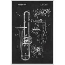 Trombone Patent Blueprint , Musical Instrument ... - $11.50 - $15.50