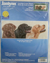 Counted Cross Stitch Labrador Trio Kit Janlynn New in Package #120-29 2000 - $9.70