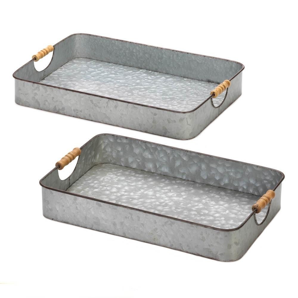 Galvanized serving trays 6