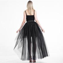 Black Slit Tulle OVERSKIRT Elastic Waist hilo Tulle Skirt Open Skirt Over Skirt image 5