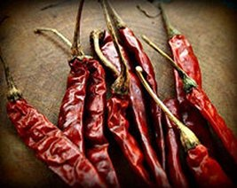 Thai pepper, whole dried pepper , organic , 1 lb , A great kick of a taste. - $15.95
