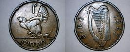1943 Irish Penny World Coin - Ireland - $14.99