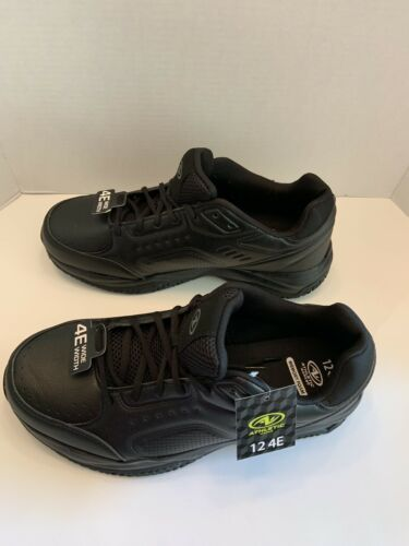 New Men 4E WIDE WIDTH Athletic Works Black Memory Foam Sz 12 lace up