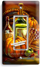 Harvest Table Wine Double Gfci Light Switch Wall Plate Cover Home Kitchen Decor - $8.07