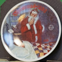 "1986 Knowles Norman Rockwell Christmas Collector Plate, ""Deer Santy Claus."" - $4.95"