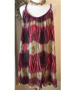 Summer Sundress Size XL Semi Sheer Braided Straps Bisou Bisou - $26.13
