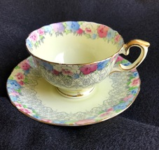 Crown Staffordshire Numbered Fine Bone China Teacup & Saucer - $24.00