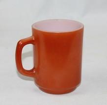 Vintage Anchor Hocking Fire King Mug Cup Orange Oven Wear D-Handle Fire-... - $12.61