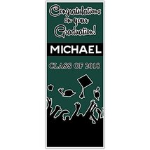 Class of 2018 Graduation Door Banner Black and Green Backdrop - $602,18 MXN