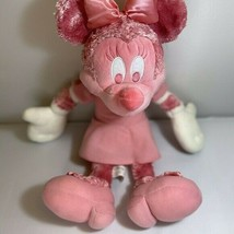 Disney Store Pink White Minnie Mouse Plush Doll 19 - $18.71