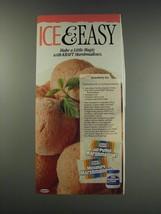 1991 Kraft Marshmallows Ad - Strawberry Ice recipe - Ice & Easy - $14.99