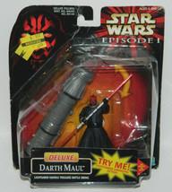 Star Wars: Episode I Darth Maul Deluxe Figure 1998 HASBRO #84144, SEALED... - $4.90