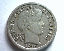 1912 BARBER DIME EXTRA FINE XF EXTREMELY FINE EF NICE ORIGINAL COIN BOBS... - $29.00