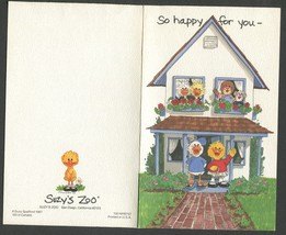 3 Vintage Greeting Cards New Home trademark Hallmark and Suzy Zoo 5 x 7.5 - $4.00