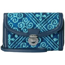 Vera Bradley Cuban Tiles Blue Quilted Ultimate Wallet Wristlet NWT - $32.18