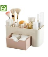 Cosmetic Jewelry Organizer Office Storage Drawer Makeup Case Brush Box H... - $17.95 CAD