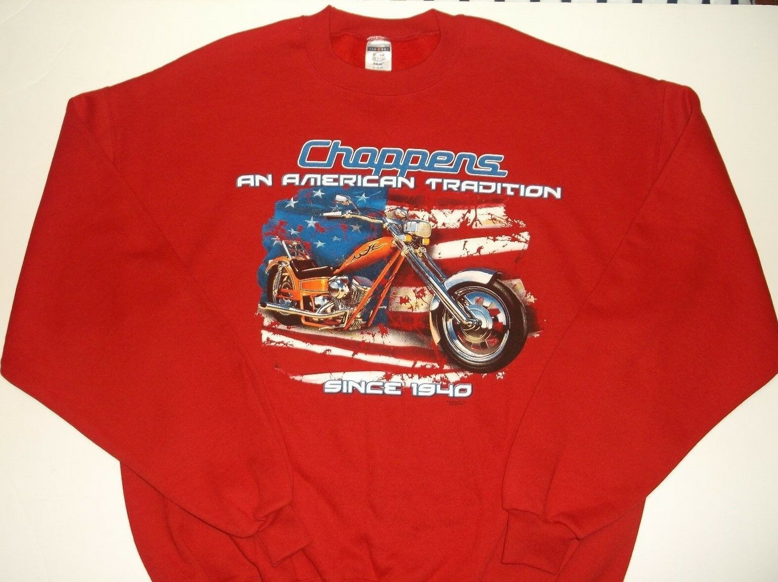 "Primary image for American Choppers Sweatshirt~RED~Men's XL~""A Tradition Since 1940""~FREE Shipping"