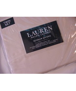 Ralph Lauren Dunham Latte Ivory Sheet Set Twin - $58.00