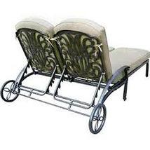 Outdoor Chaise Lounge Patio Furniture  Elisabeth Cast Alumnum Bronze image 4