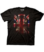Doctor Who British Union Jack Over the Tardis Adult T-Shirt, NEW UNWORN - $14.50